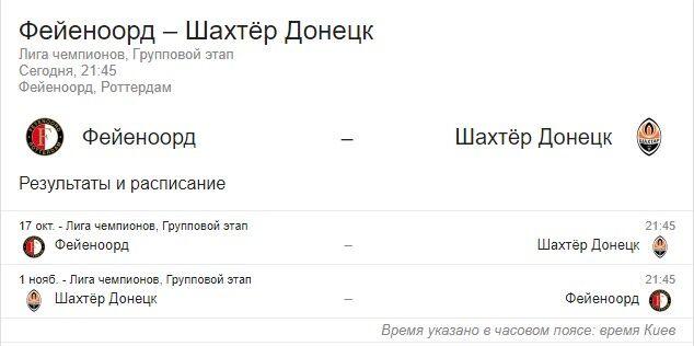 """""""Феєноорд"""" вперше зійдеться з """"Шахтарем"""": які шанси у команд"""