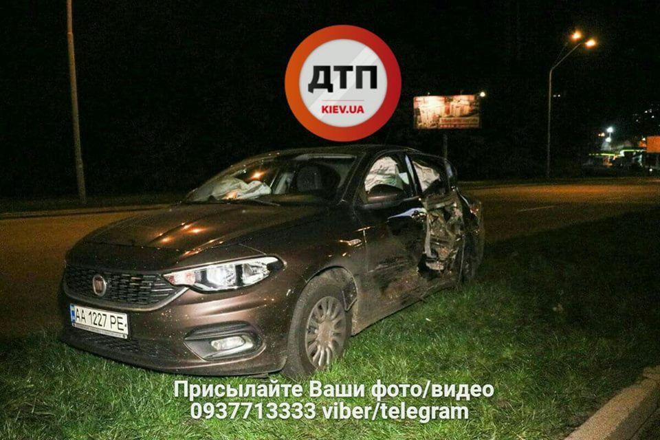 В Киеве пьяный полицейский спровоцировал масштабное ДТП