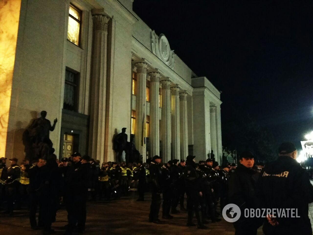 Акции протеста в центре Киева: онлайн первого дня