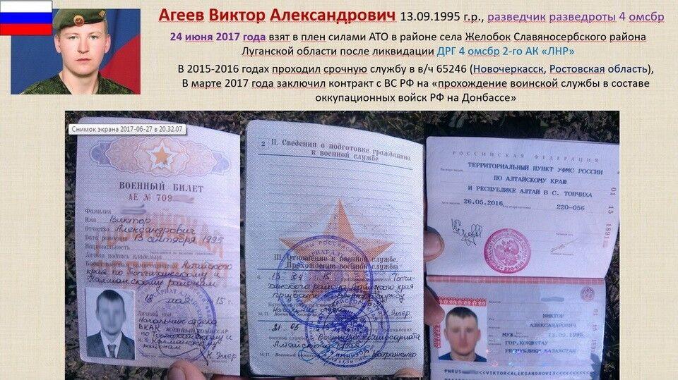 СБУ направила всуд дело пленного жителя России Агеева