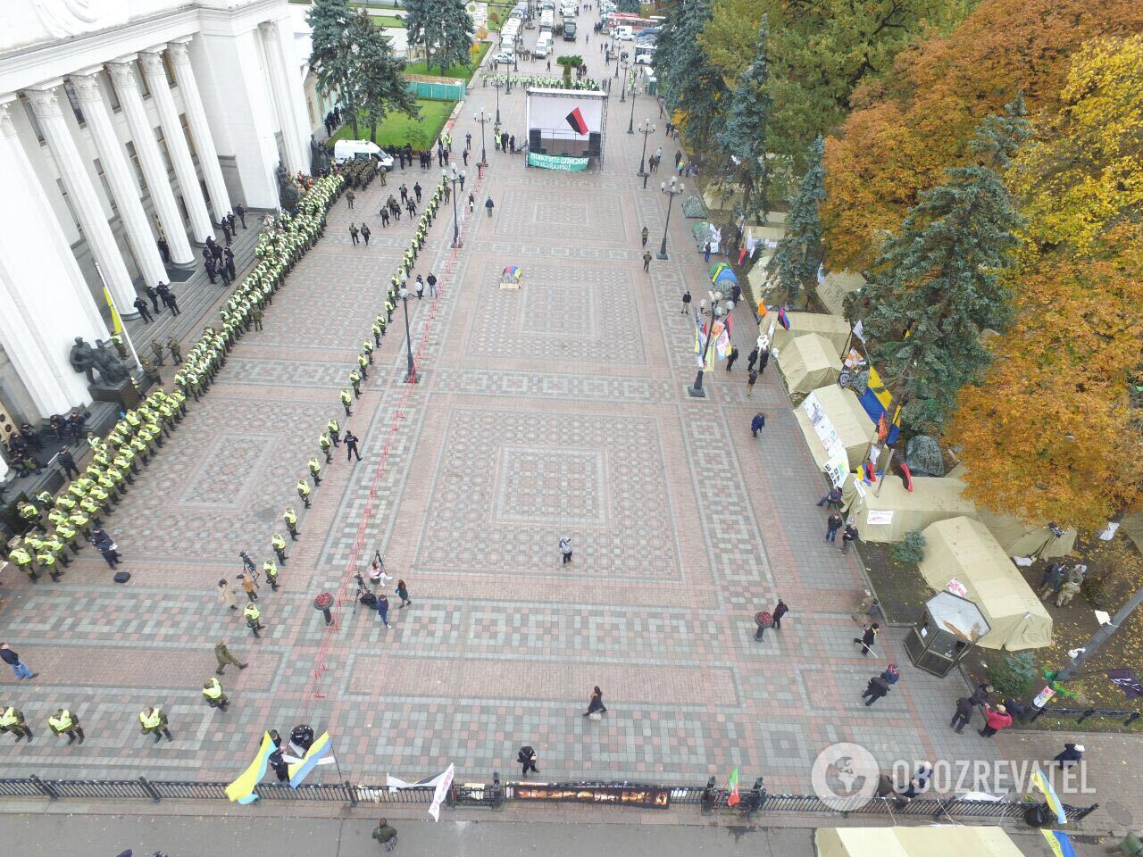 А где митинг?Протест под Радой сняли с дрона