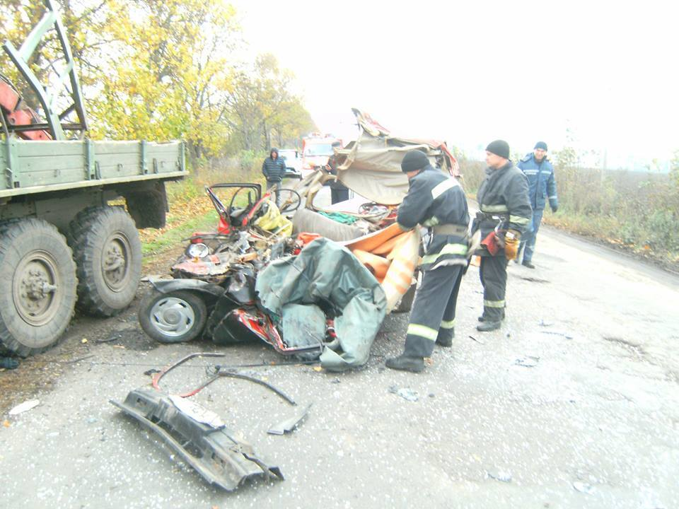 Авария произошла на дороге Жашков - Буки