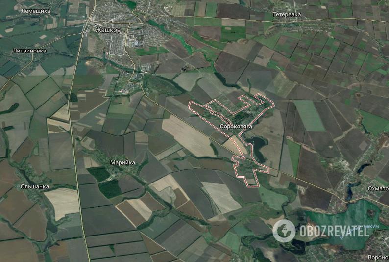 Авария произошла рядом с селом Сорокотяга