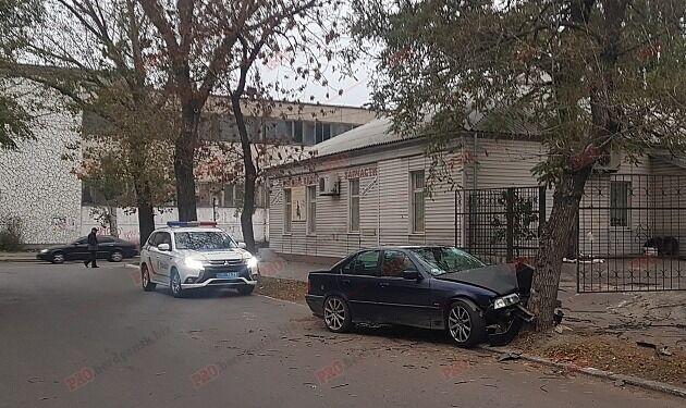 В Запорожской области BMW врезался в дерево (ФОТО, ВИДЕО)