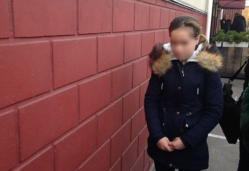 22-летняя Майя во время задержания правоохранителями
