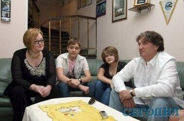 2012 год - Ксения с семьей