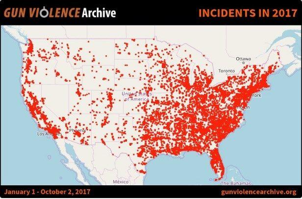 Количество массовых расстрелов в США продолжает расти