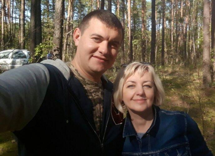 Богдан Марцонь с матерью