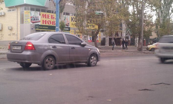В Запорожской области Geely столкнулся с Chevrolet Aveo