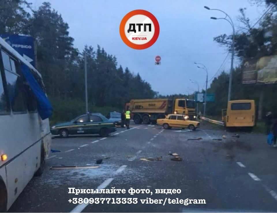 ВКиевской обл. случилось ДТП савтобусом Нацгвардии, один военный умер