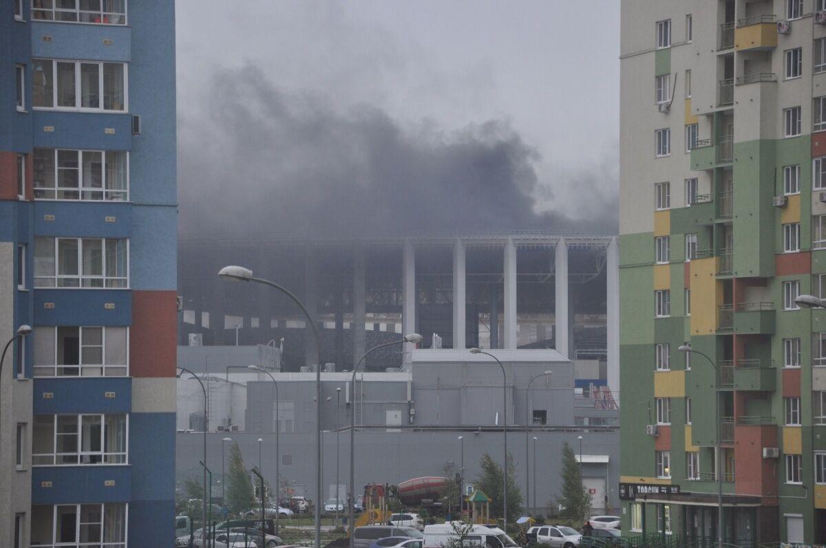 У Росії будівельники підпалили стадіон чемпіонату світу з футболу-2018