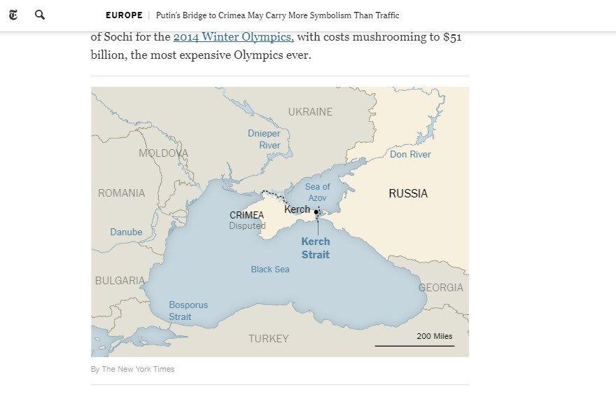 """""""Виправте це"""": New York Times потрапила в скандал із """"неукраїнським"""" Кримом"""