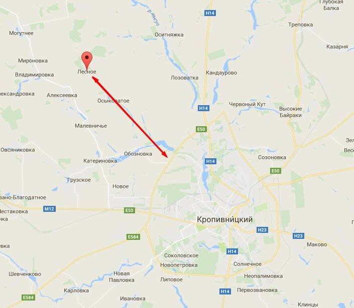 Лесное Кировоградская область