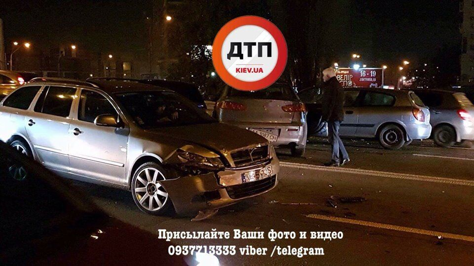 Образовалась огромная пробка: в Киеве произошло масштабное ДТП