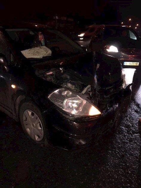 Авто, в котором находились пострадавшие