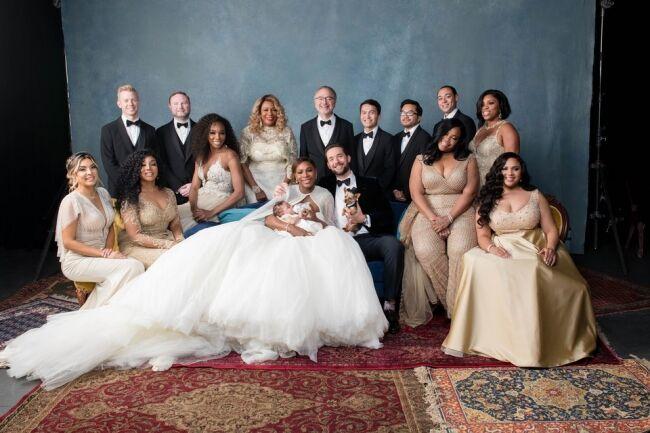 Серена Уильямс вышла замуж за миллионера, превратив свадьбу в сказочный бал
