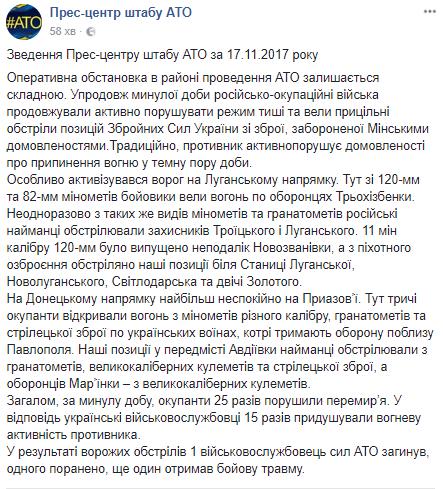 Враг выпустил мины: силы АТО понесли новые потери на Донбассе