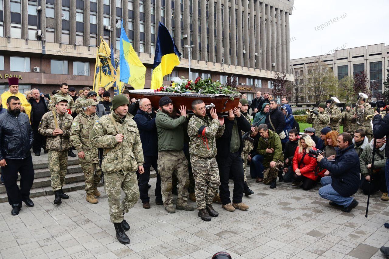 В Запорожье прошла церемония прощания с погибшим бойцом АТО
