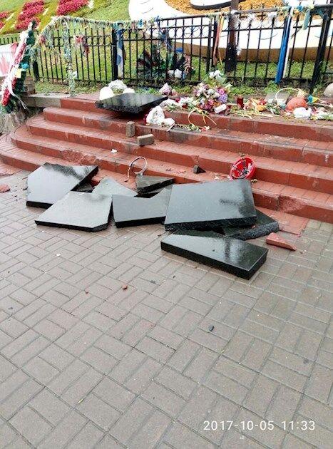Разрушение памятника Небесной Сотни в Киеве: суд вынес приговор вандалу