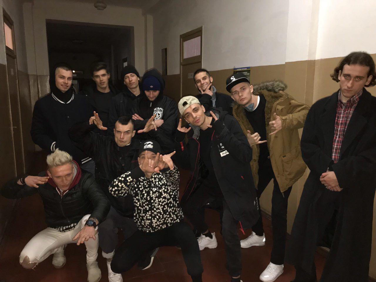 Задержанные во время облавы в клубе Jugendhub