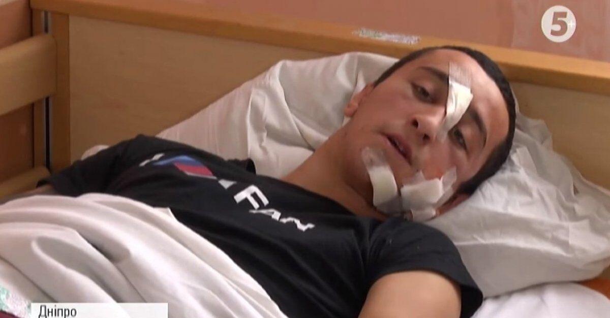 Раненный полицейский