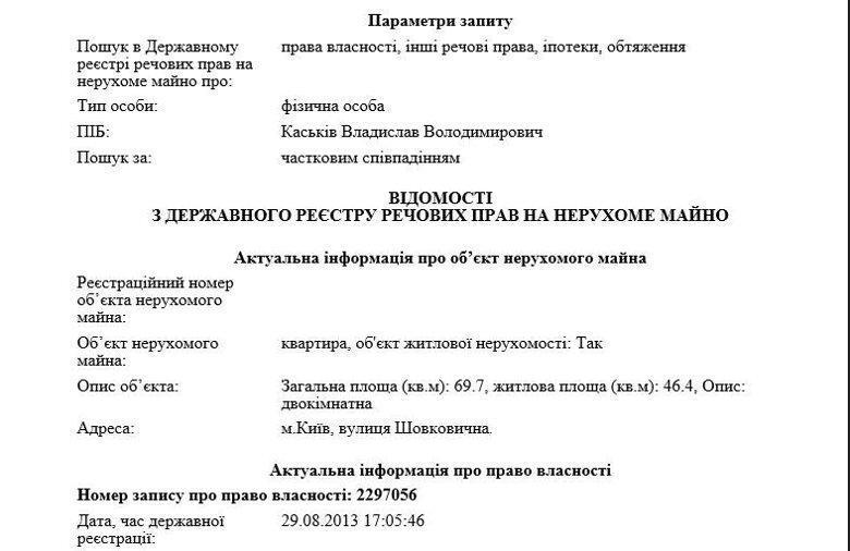 """У """"экстрадированного"""" Каськива обнаружили элитную недвижимость"""