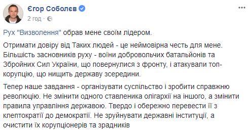 Сторонники Саакашвили официально избрали нового лидера