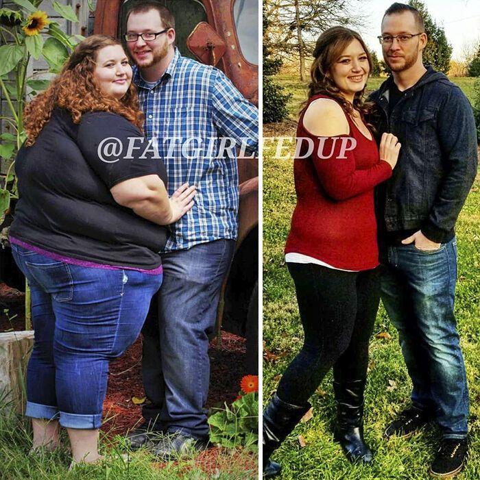 Пара с общим весом 350 кг покорила сеть внешностью спустя 1,5 года похудения