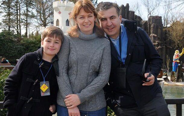 Саакашвілі з дружиною і сином