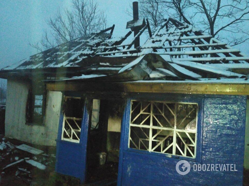 Пожар в селе Драбовцы