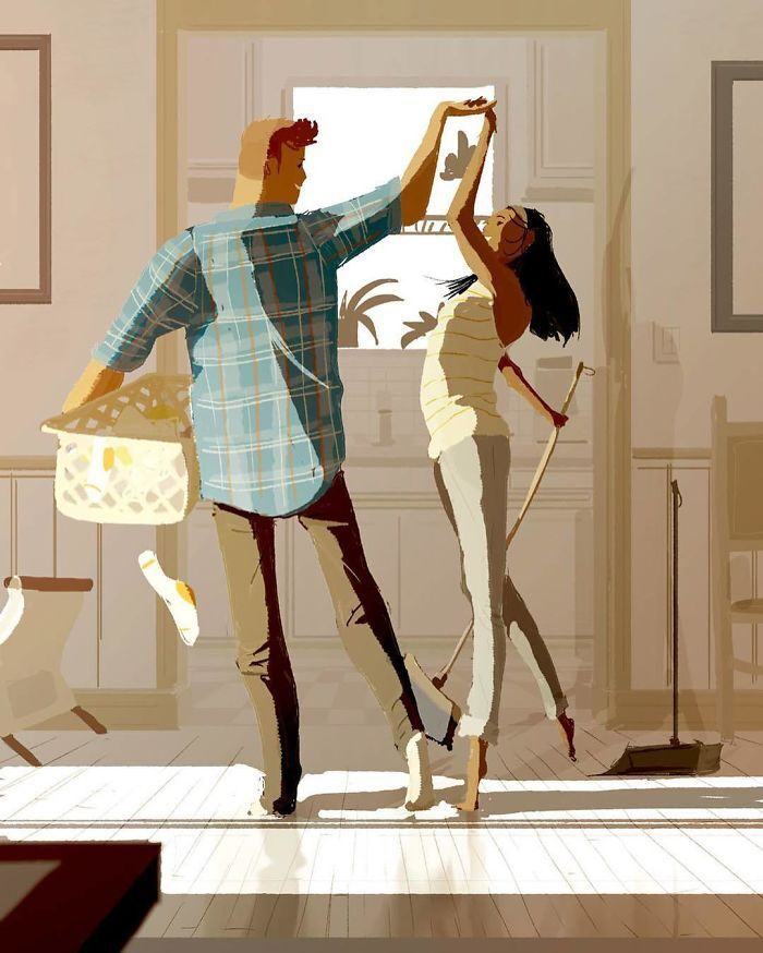 Смешные картинки про отношения мужа и жены