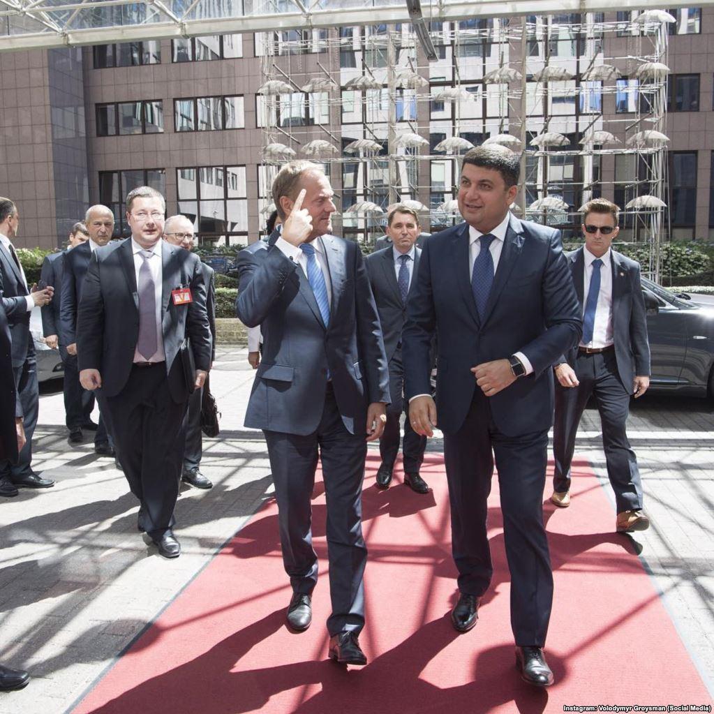 С председателем Европейского совета Дональдом Туском