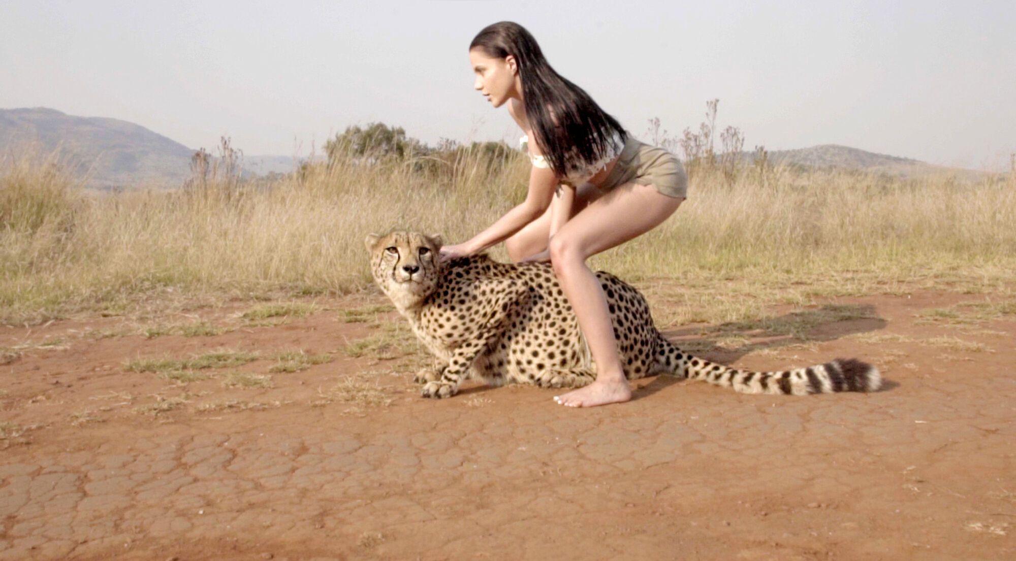 Wicked topless cheetah girl shirt