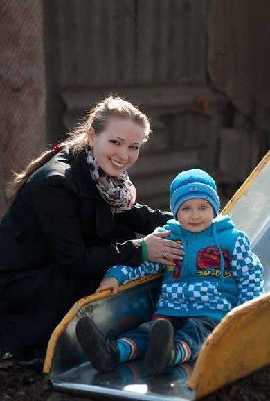 Погибшая Светлана Сапатинская с сыном Матвеем