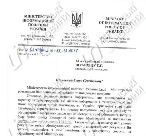 Загроза нацбезпеці: в Україні готують новий список заборонених сайтів