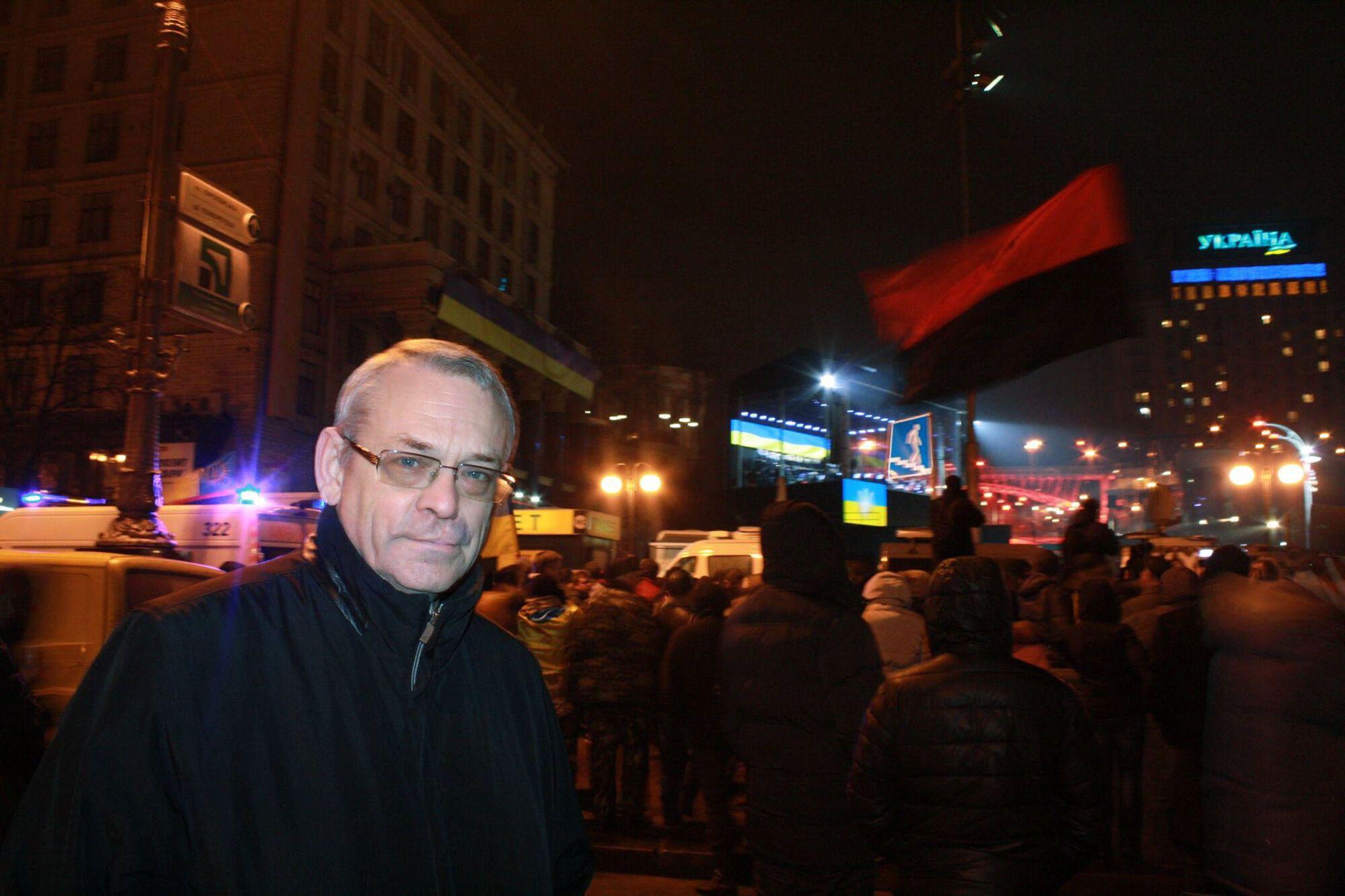 Игорь Яковенко на Майдане Незалежности в Киеве