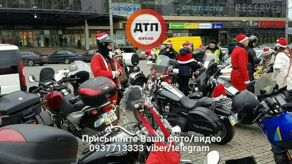 Новогодний съезд мотоциклистов в Киеве