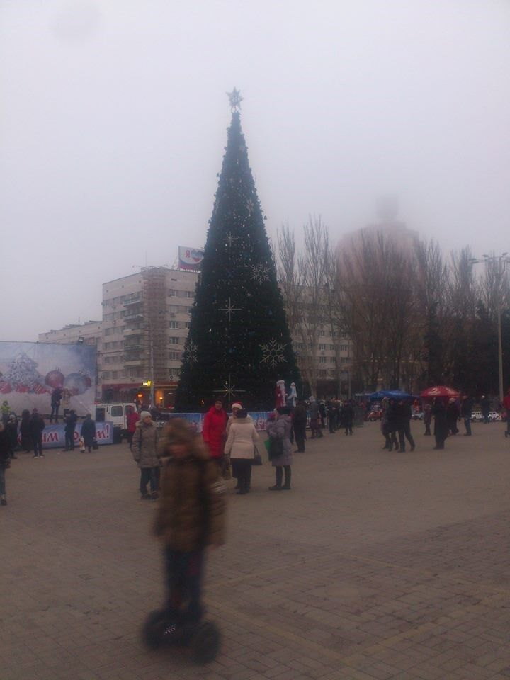 Новогодний оккупированный Донецк