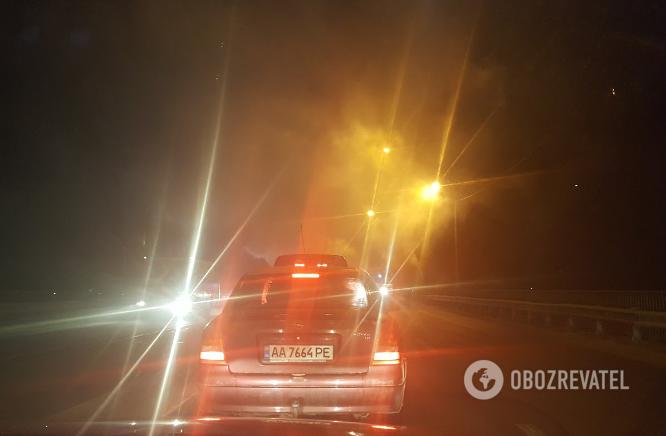 Пожар в Киеве: на окружной вспыхнул грузовик