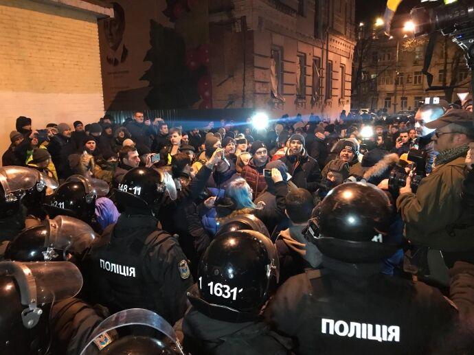 Защитники Саакашвили прорвались внутрь СБУ