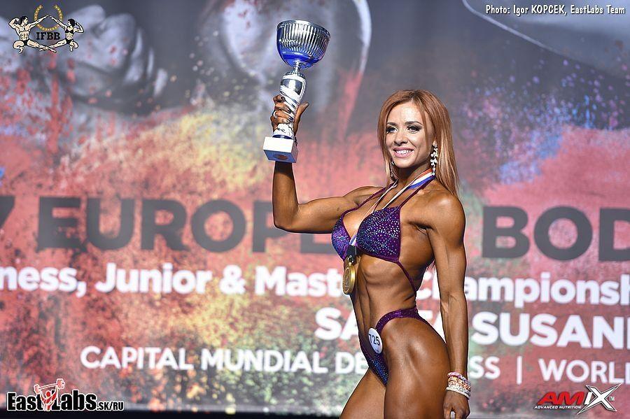 Украинка стала абсолютной чемпионкой Европы по бодифитнесу, обойдя россиянку