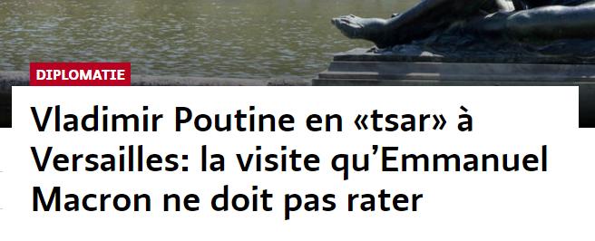 """""""Цар у Версалі"""": французькі ЗМІ """"коронували"""" Путіна перед зустріччю з Макроном"""