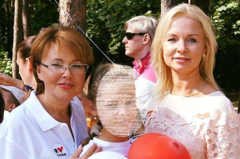 Татьяна Мелихова с внучкой и дочкой