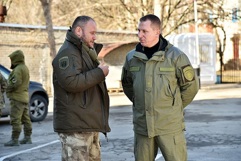 Дмитро Ярош и Вячеслав Аброськин, 2016 год