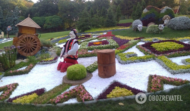 Виставка квітів у Києві: тарілка борщу і гігантські вареники