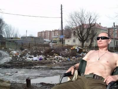 С грудью и без: в сети фотожабами высмеяли обнаженного Путина