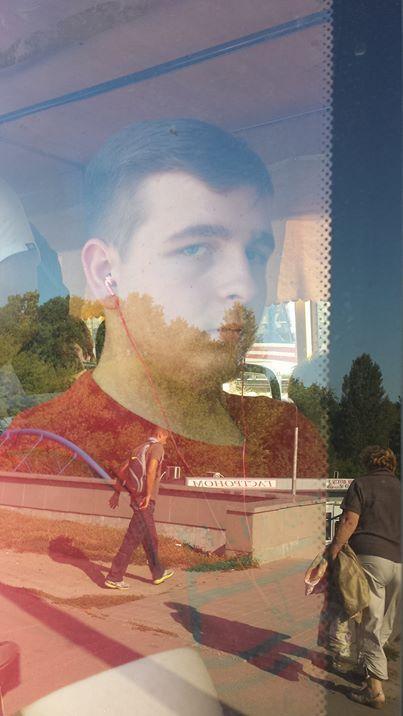 Пассажир в маршрутке Киева