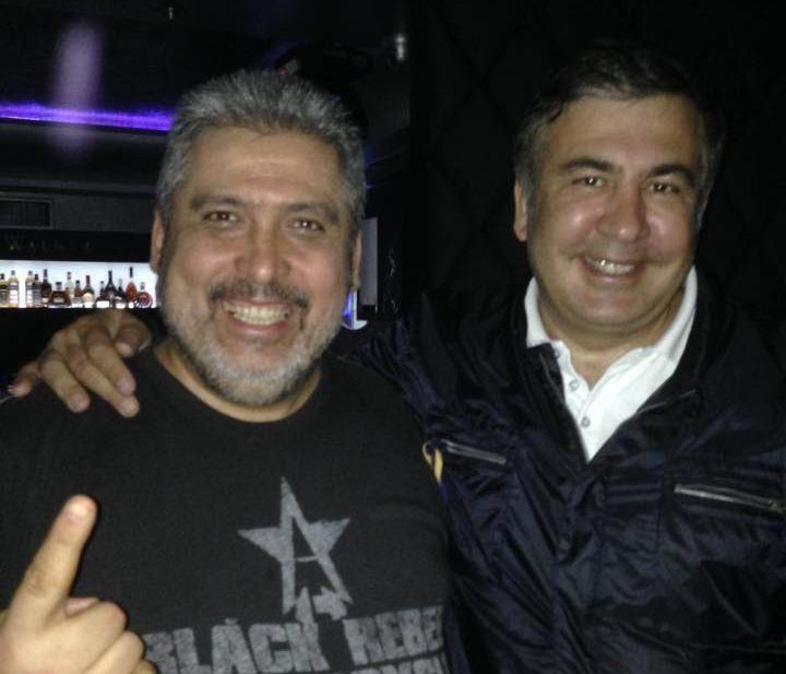 Бедовой и Саакашвили. Фото сделано в 2015 году