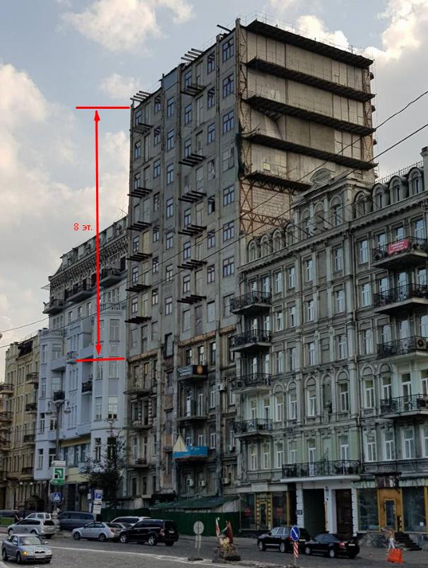 Поверх здания надстроили 8 этажей