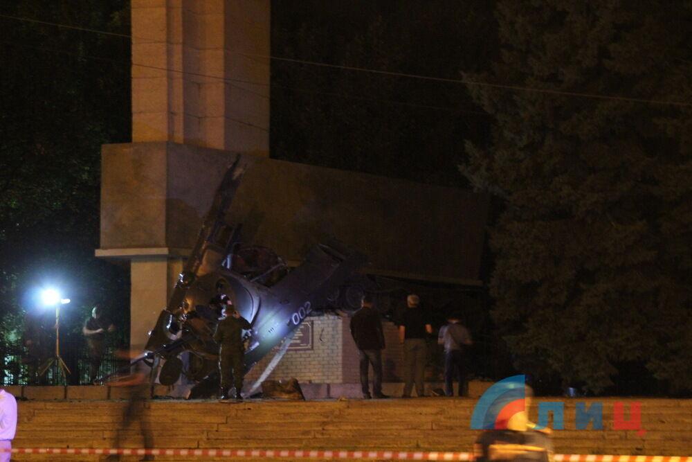 """Звинуватили """"українську ДРГ"""": в центрі окупованого Луганська прогримів потужний вибух"""